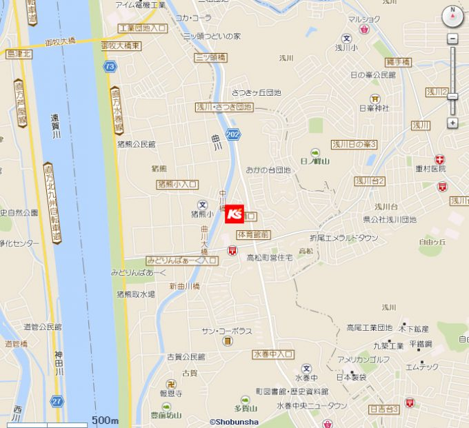 ケーズデンキ水巻店地図20191019