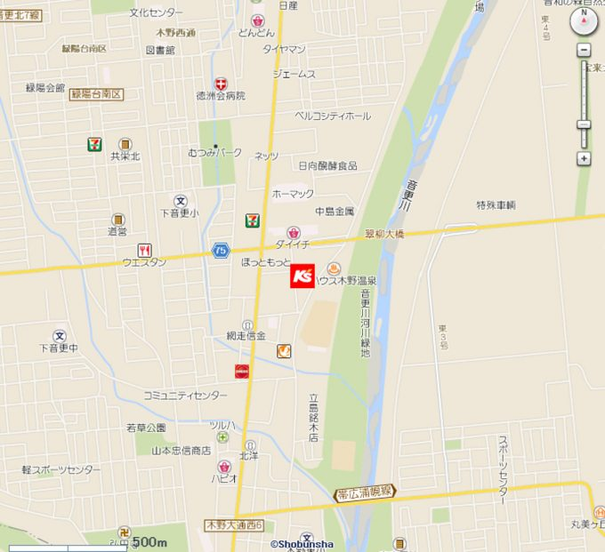 ケーズデンキ帯広音更店_地図_1205_20191109