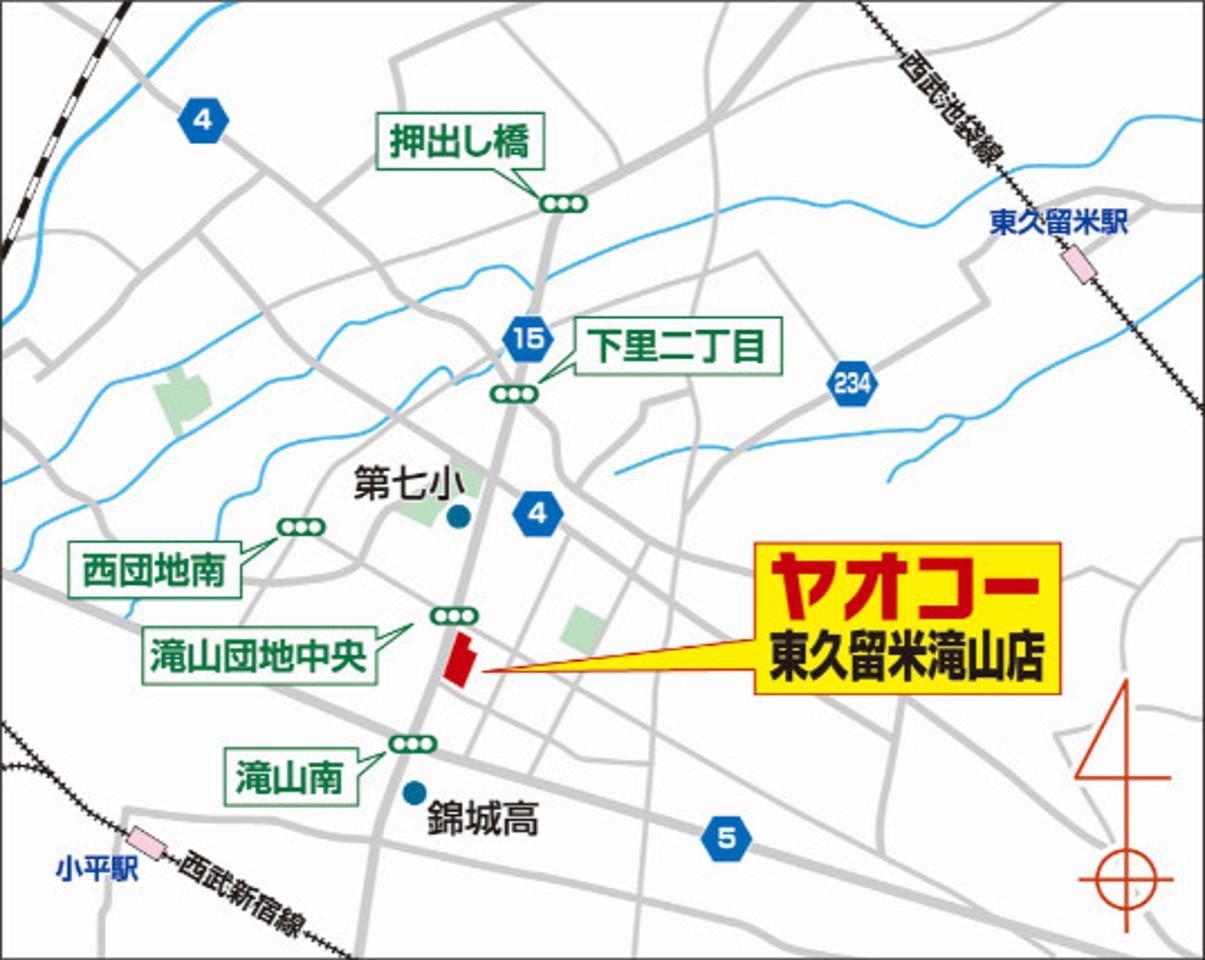 ヤオコー東久留米滝山店_地図_1205_20200119