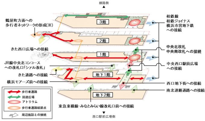 JR横浜タワー_歩行者ネットワーク_1205_20200128
