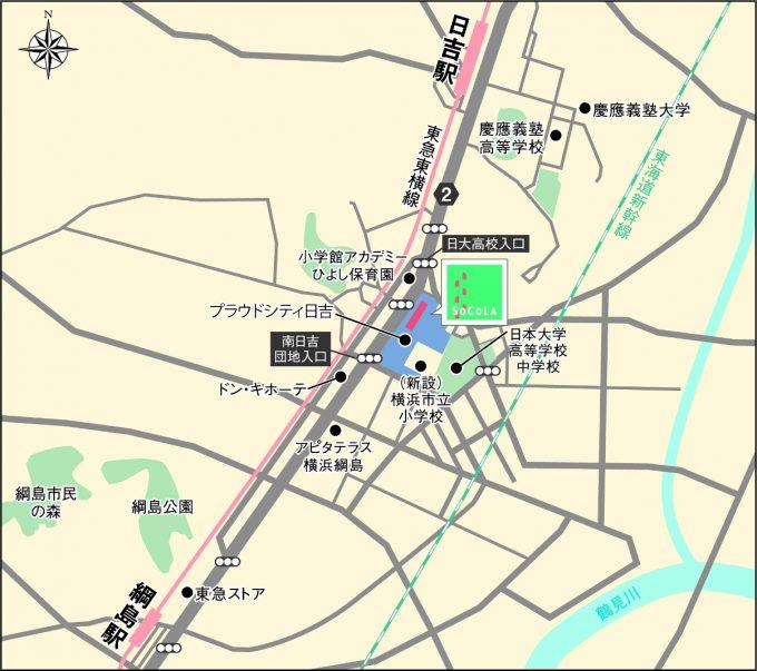 ソコラ日吉_地図_1205_20200119