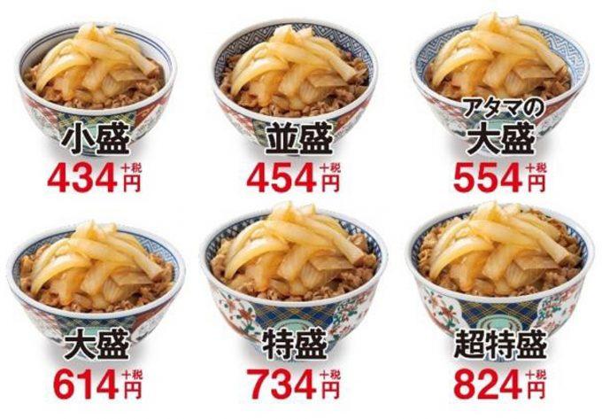 吉野家_ねぎだく牛丼2020_サイズと価格_1205_20200108