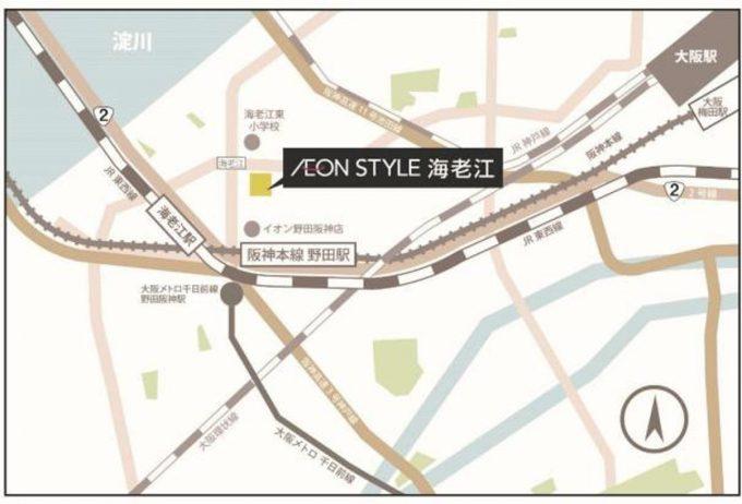 イオンスタイル海老江_地図_1205_20200228