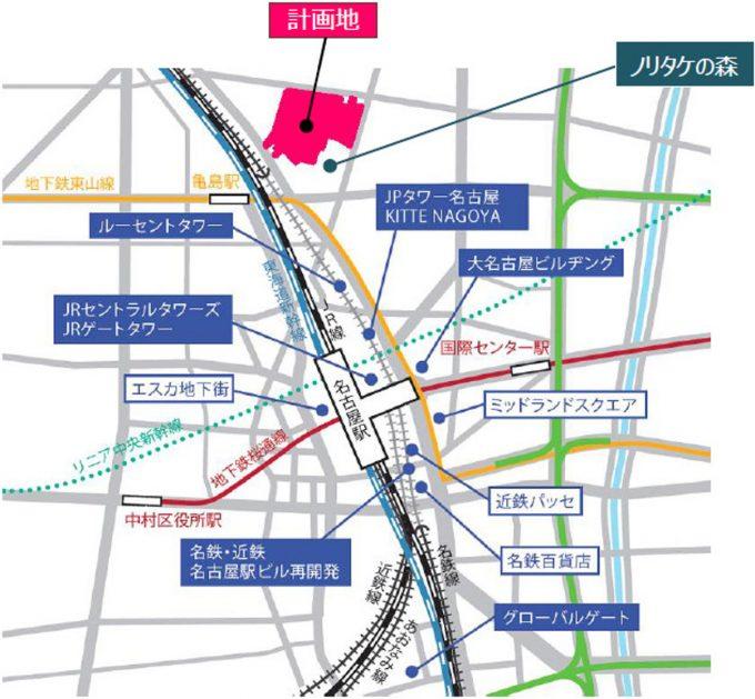 イオンモール_ノリタケの森_地図_1205_20200201