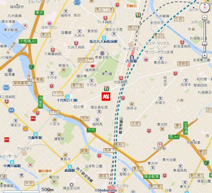 ケーズデンキBRANCH博多店_地図_1205_20200321