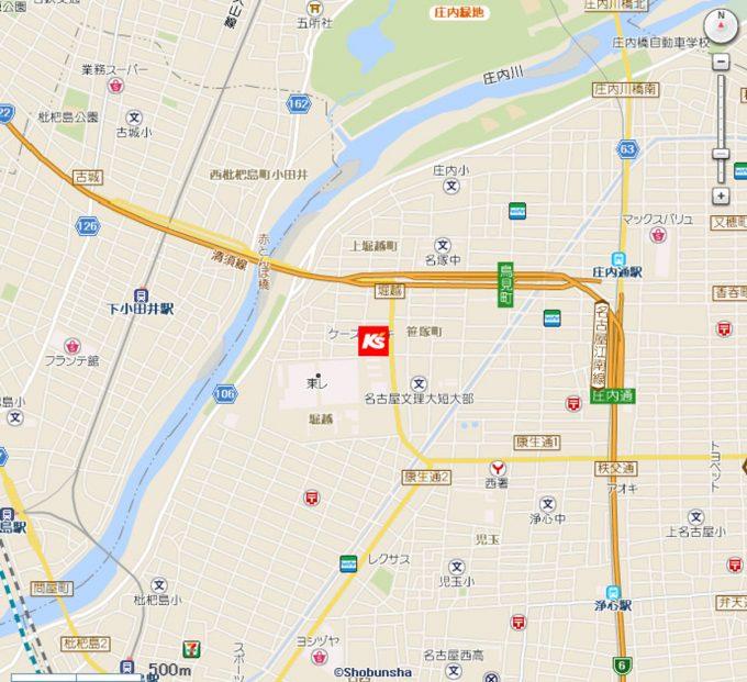 ケーズデンキ名西店_地図_1205_20200328