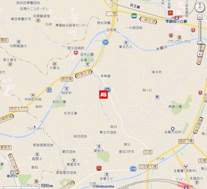 ケーズデンキ多摩東寺方店_地図_1205_20200315