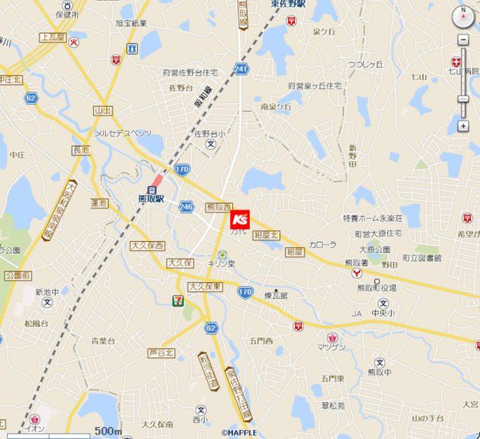 ケーズデンキじゃんぼスクエア熊取店_地図_1205