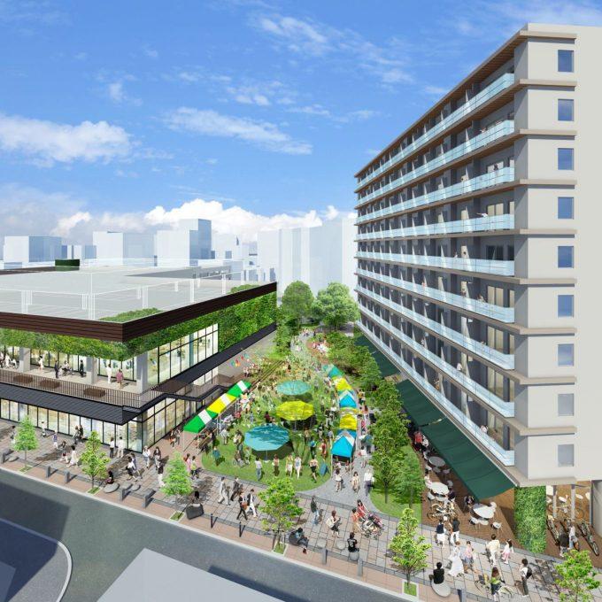 aeontown-link-city-moriguchi_憩いの広場_鳥瞰_1205_20200719