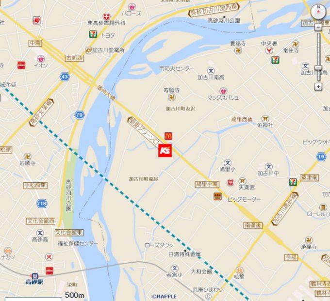 ケーズデンキ加古川店_地図_1205_20201022
