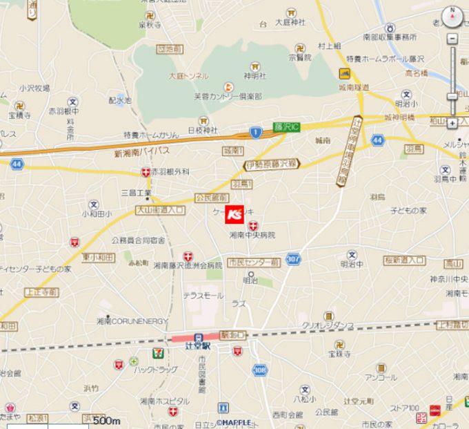 ケーズデンキ辻堂店_地図_1205_20201025