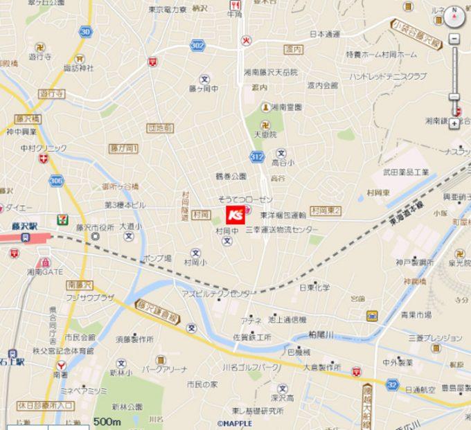 ケーズデンキ藤沢弥勒寺店_地図_1205_20201101