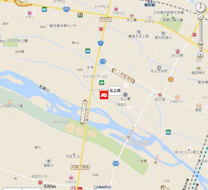 ケーズデンキ北上店_地図_1205