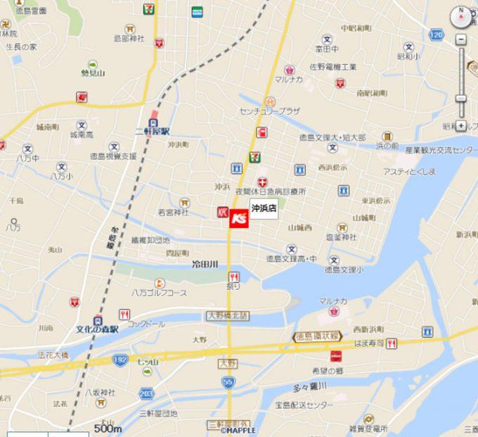 ケーズデンキ沖浜店_地図_1205_20210210