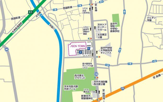 イオンタウン茨木太田_近隣地図_1205_20210314