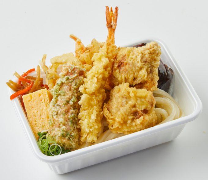 丸亀製麺_丸亀うどん弁当_4種の天ぷら切り抜き_1205_20210406