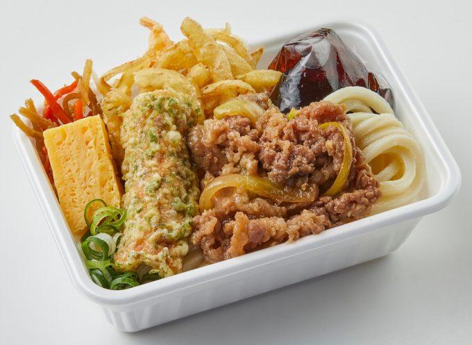 丸亀製麺_丸亀うどん弁当_2種天ぷらと肉うどん切り抜き_1205_20210406