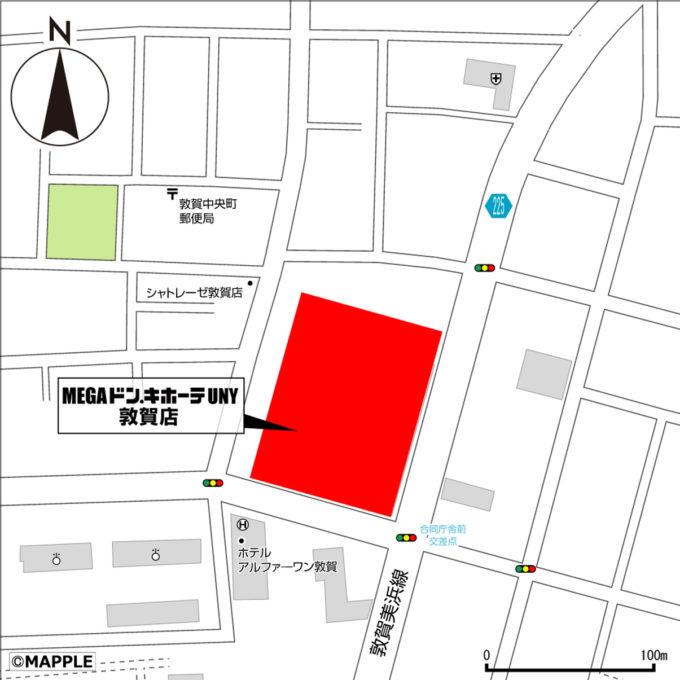 MEGAドンキホーテUNY敦賀店_地図_1205_20210509