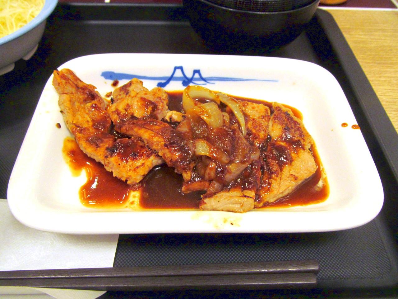 松屋厚切りトンテキ定食トンテキソース2021大盛賞味アイキャッチ1280調整後