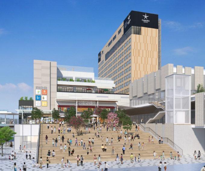宇都宮駅東口地区整備事業複合施設_南側イメージ_1205_20210625