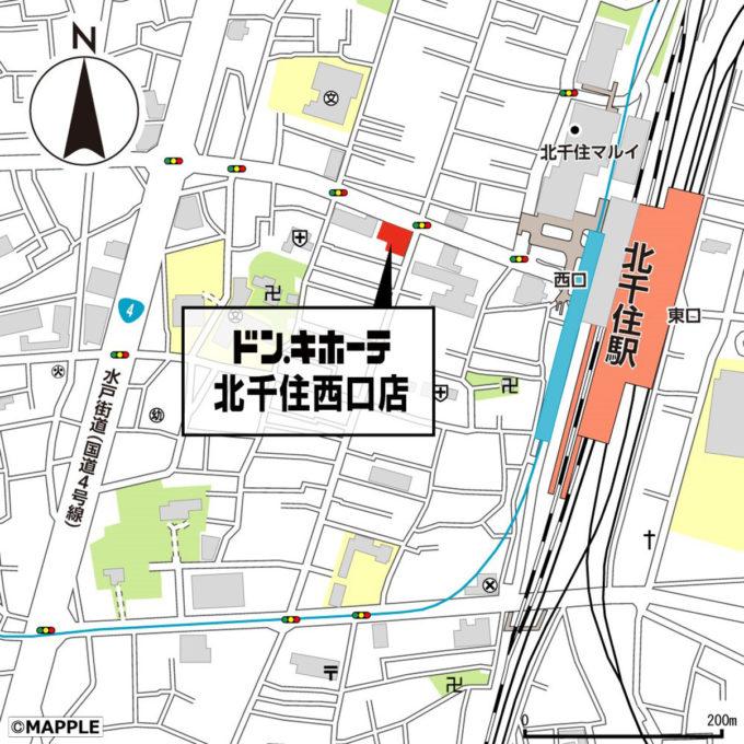 ドン・キホーテ北千住西口店_地図_1205_20210612