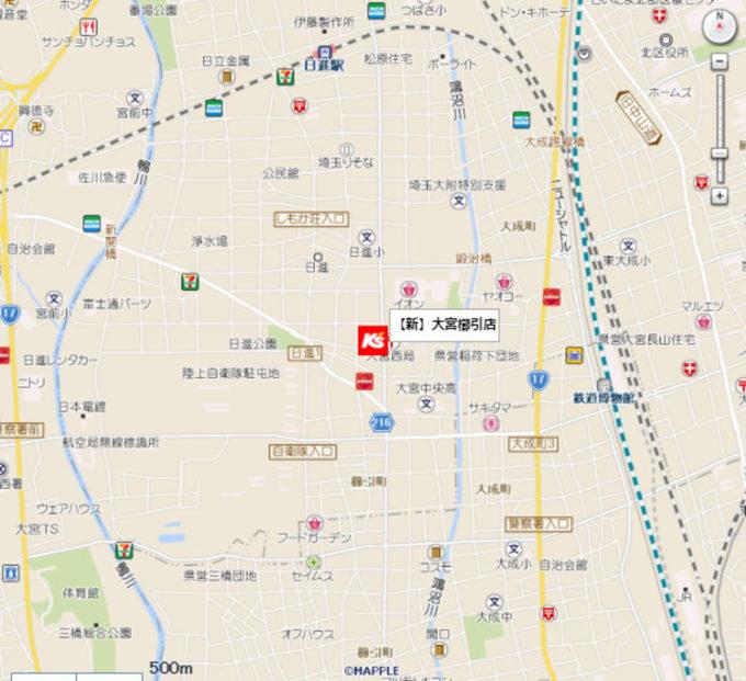 ケーズデンキ大宮櫛引店_地図_1205_20210720