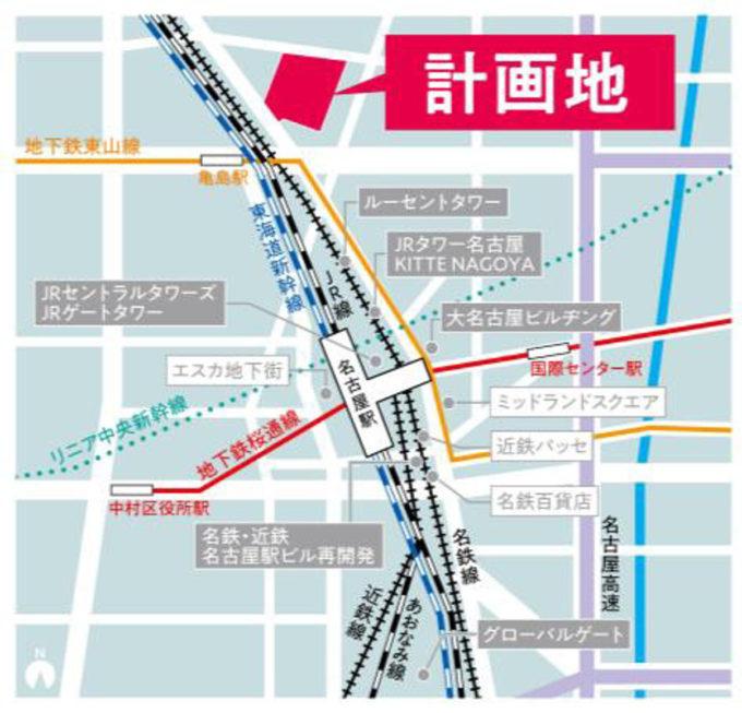 イオンモール名古屋ノリタケガーデン_地図_1205_20210706