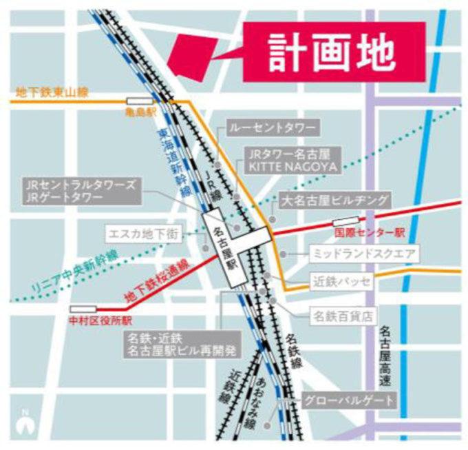 イオンモール名古屋ノリタケガーデン_地図_1205_20210831