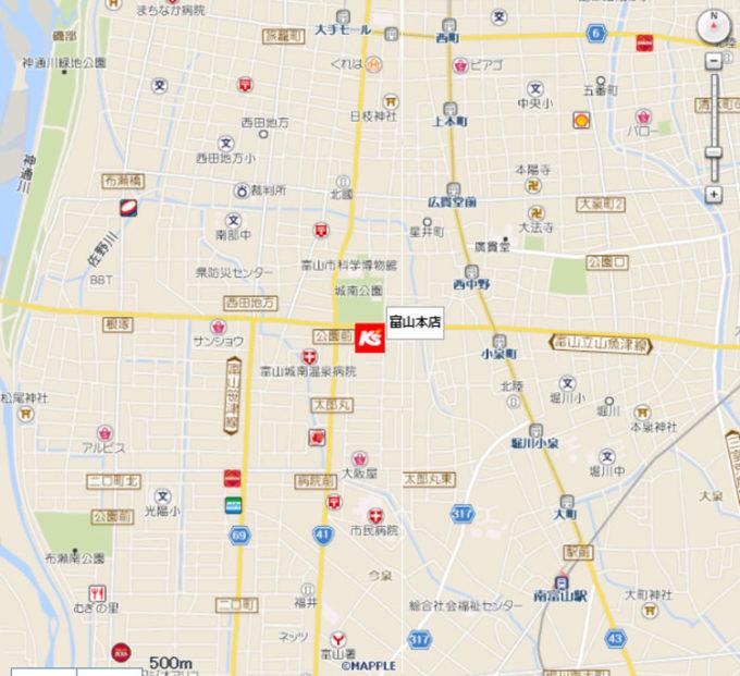 ケーズデンキ富山本店地図_1205_20210912